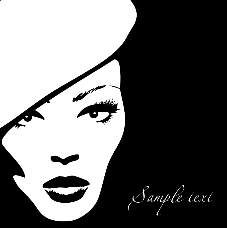 Woman Face Vector Illustration 4 Free Vector Cdr