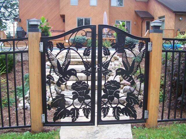 A wonderfully detailed iron gate Free Vector Cdr