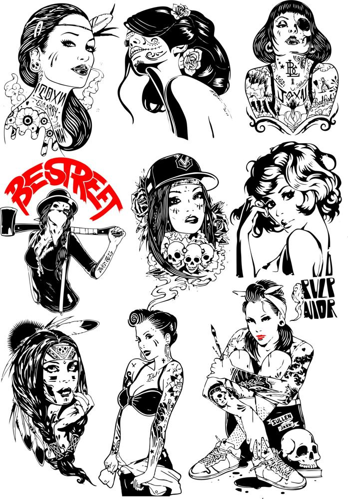 Girls Vector Collection Free Vector Cdr