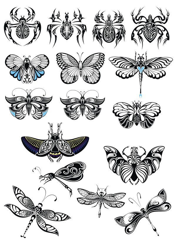 Butterfly Collection Vector Set Free Vector Cdr