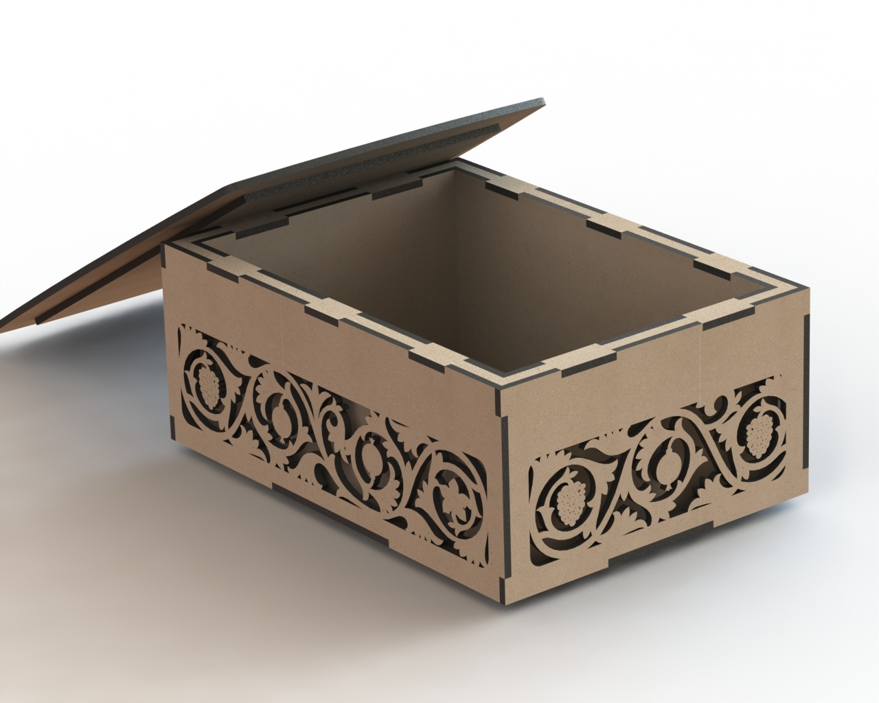 Box Decorated Double Wall Laser Cut Free Vector Cdr