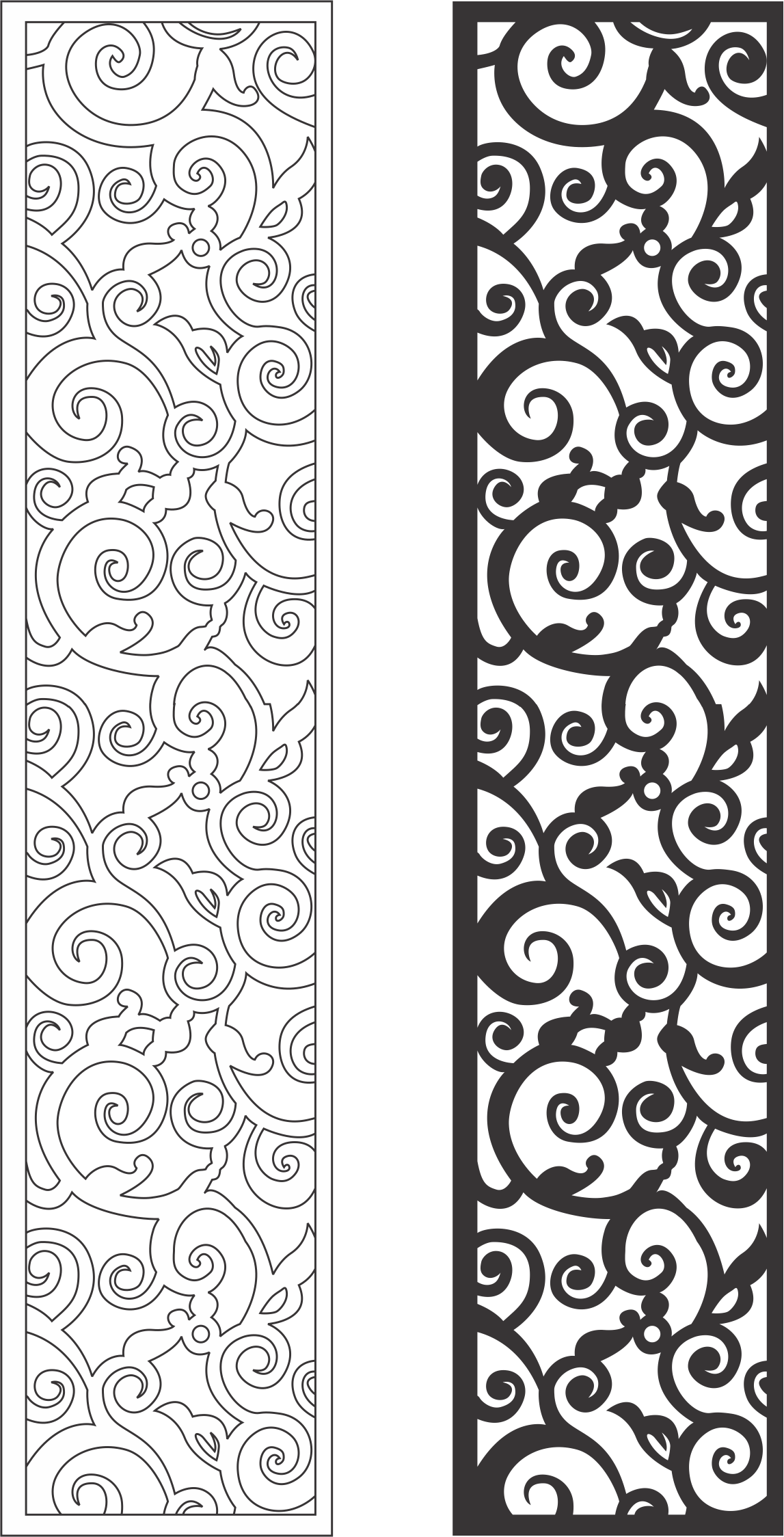 Floral Panel Free Vector Cdr