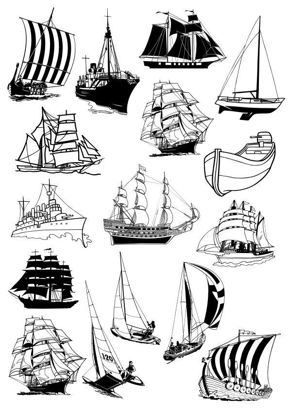 Sail Ships Free Vector Cdr