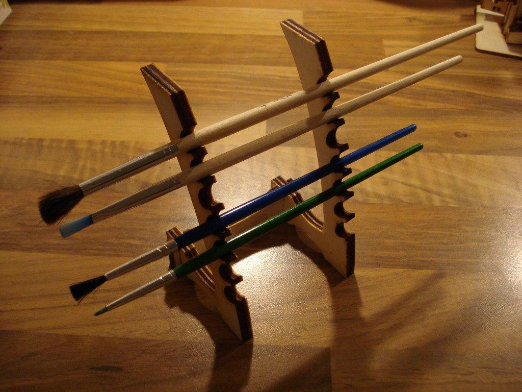 Samurai Paintbrush Stand Laser Cut Free Vector Cdr
