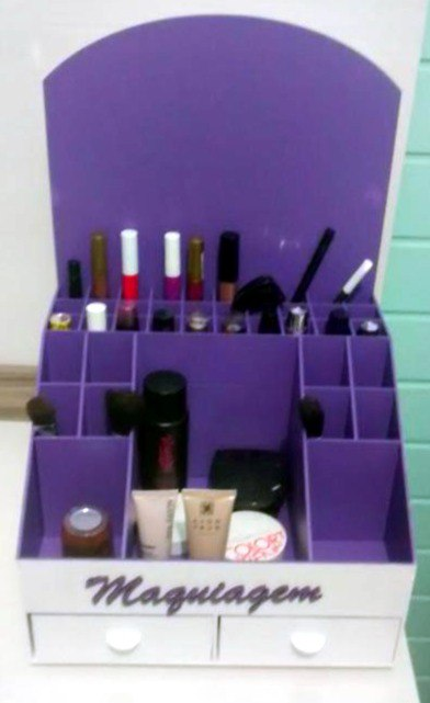 Organizer For cosmetics Plywood 3mm Free Vector Cdr
