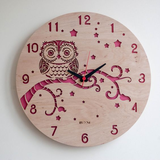Modern Wall Clock OWL Free Vector Cdr