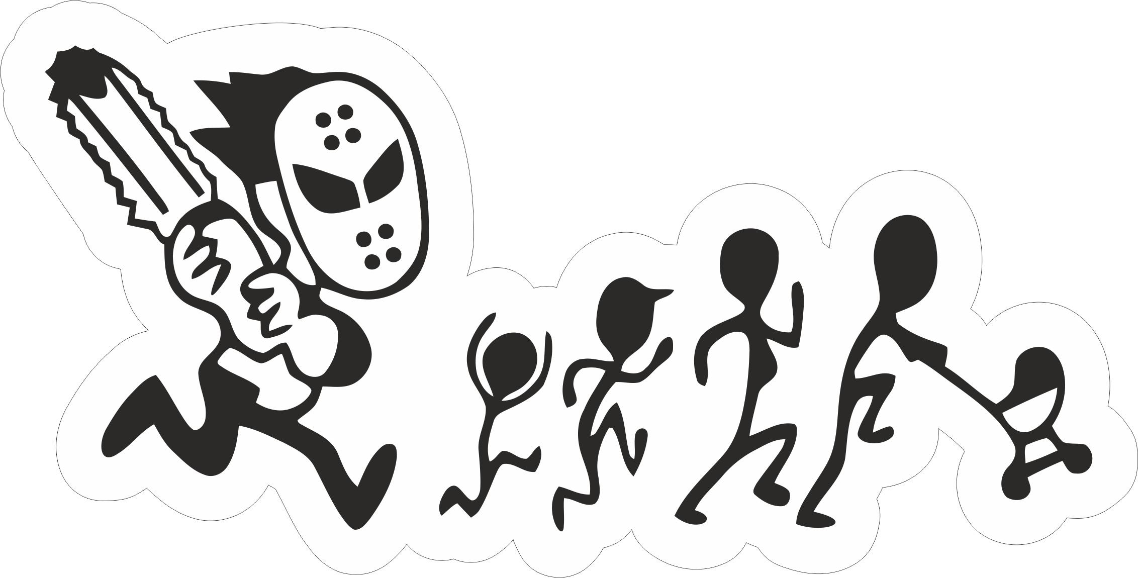 Family Car Sticker Free Vector Cdr