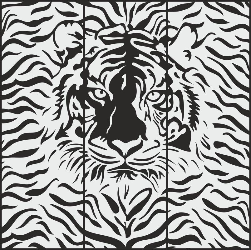 Cheetah Sandblasting pattern Free Vector Cdr