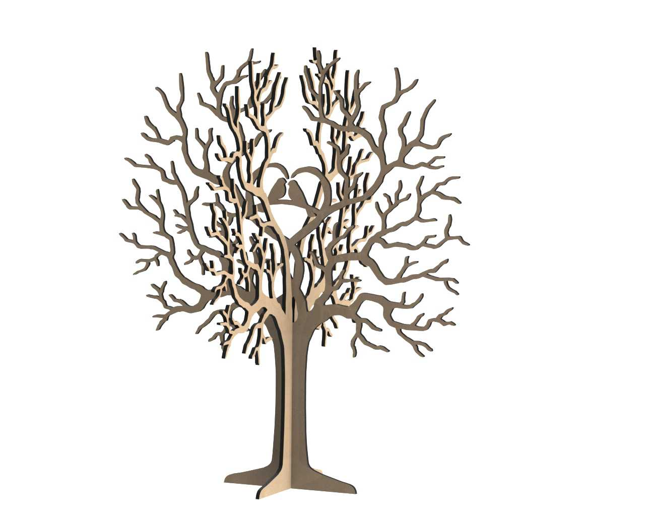 Birds Tree Jewelry Stand 3mm Free Vector Cdr