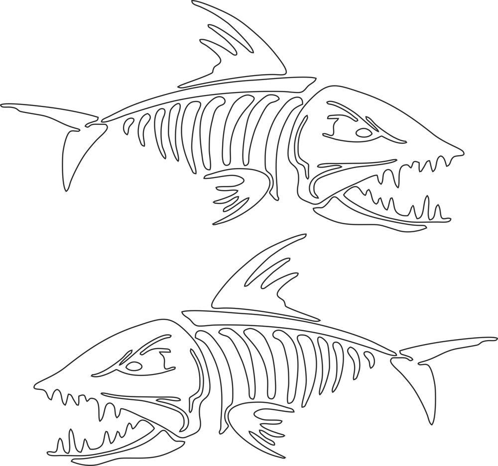Fish Skeleton Vector Art Free Vector Cdr