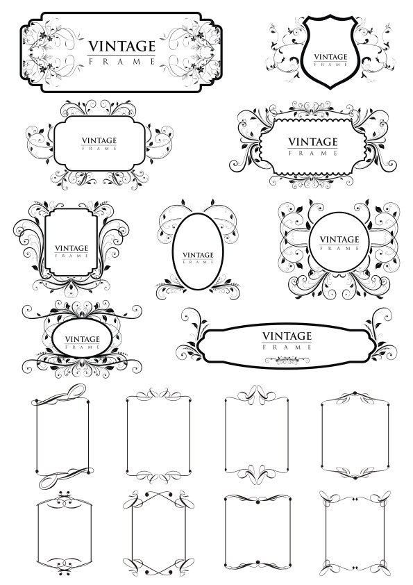 Vintage Frame Borders  Free Vector Cdr