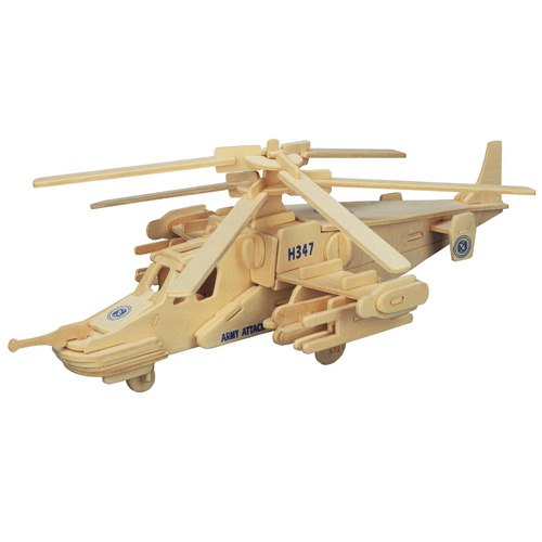 3D Wooden Helicopter Assembly Puzzle Free Vector Cdr