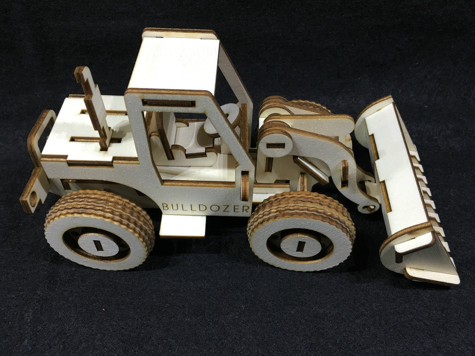 Bulldozer Laser Cut Wooden 3D Model Puzzle Kit Free Vector Cdr