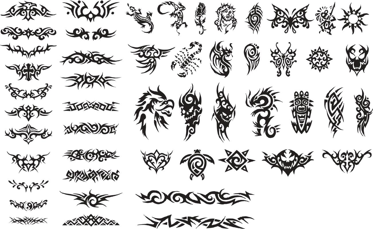 Patterns of Tribal Tattoo Vectors Free Vector Cdr