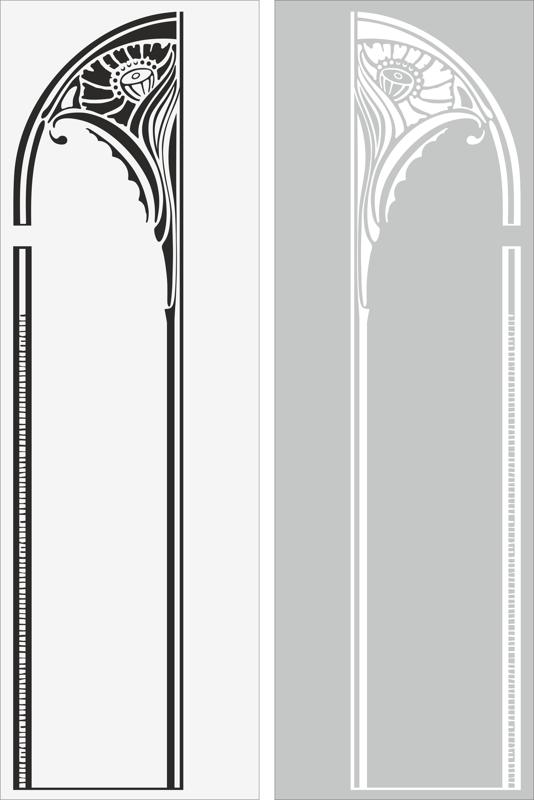 Arch Sandblast Pattern Free Vector Cdr