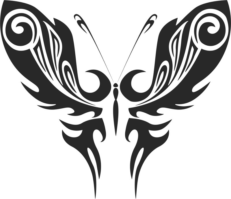 Abstract Tattoo Magic Butterfly Vector Free Vector Cdr