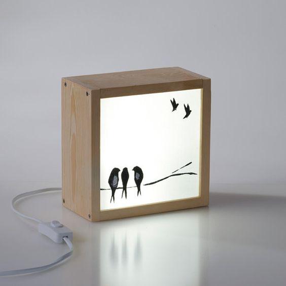 Light Box Swallows Free Vector Cdr
