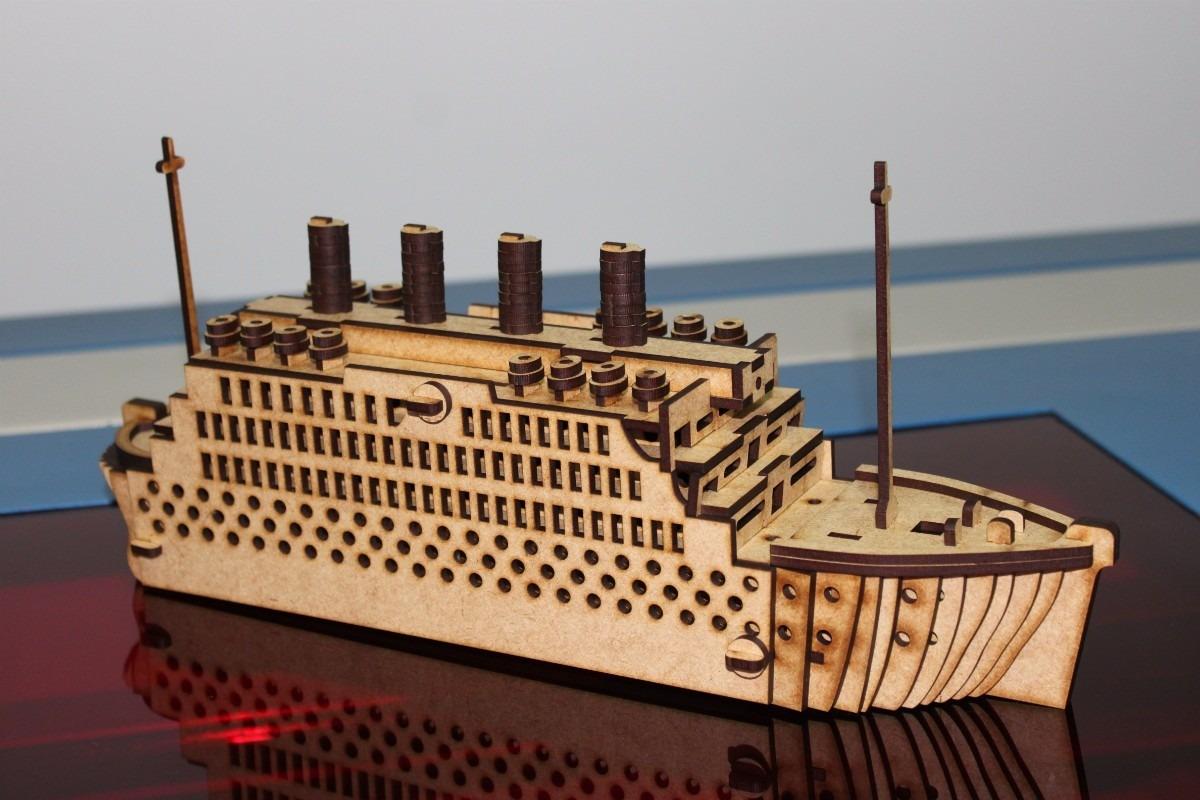 Titanic 3D Puzzle Free Vector Cdr