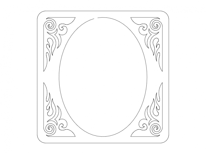 frame-1 Free Dxf for CNC