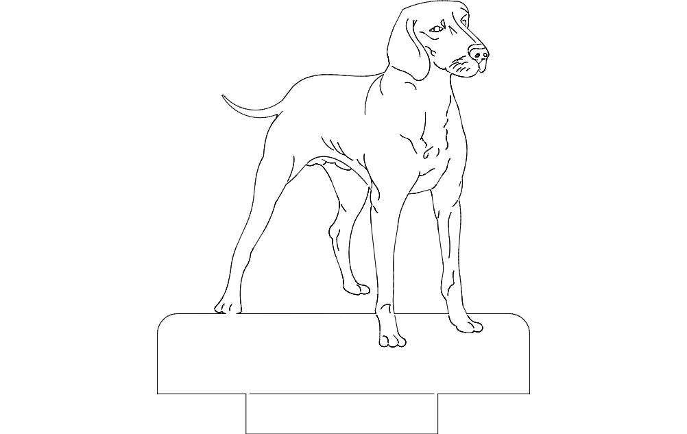dog 1 Free Dxf for CNC
