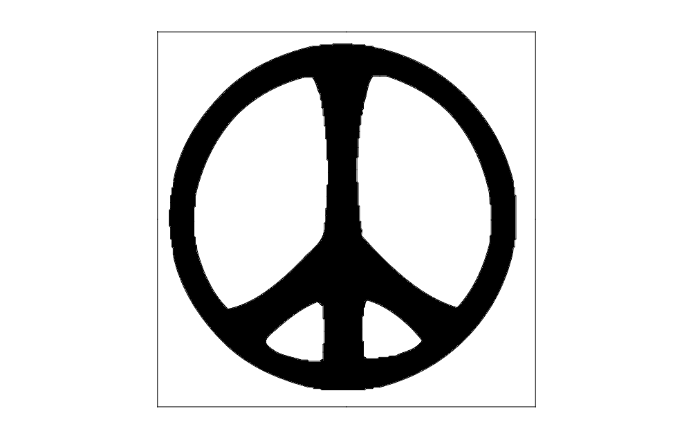 peace Free Dxf for CNC