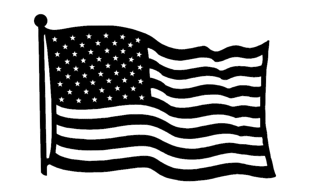 us flag Free Dxf for CNC