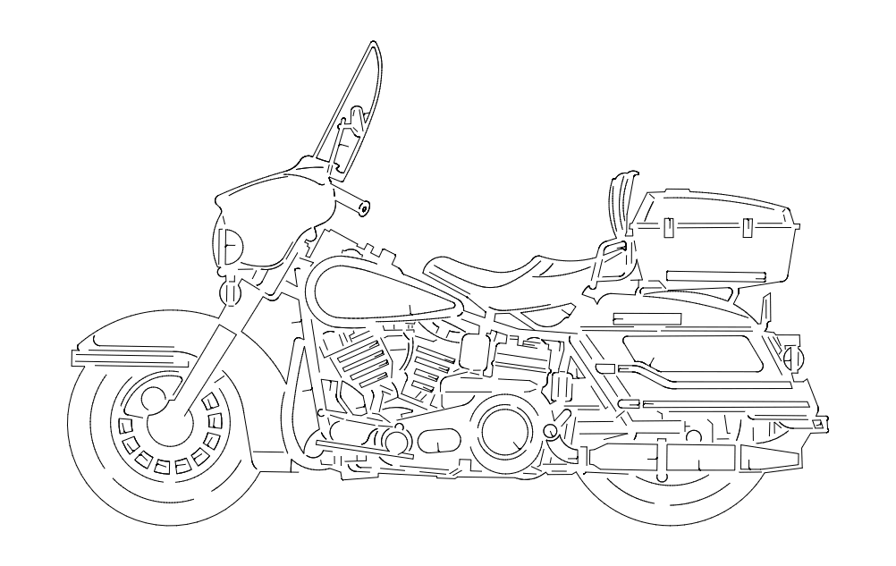 harley Free Dxf for CNC