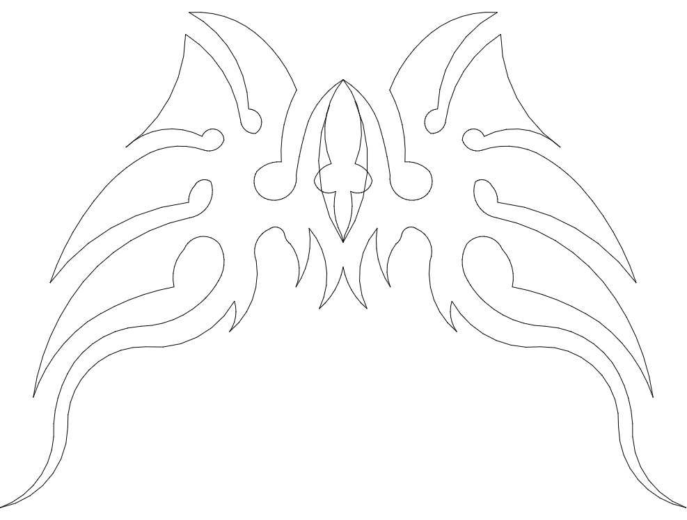 wings 13 Free Dxf for CNC