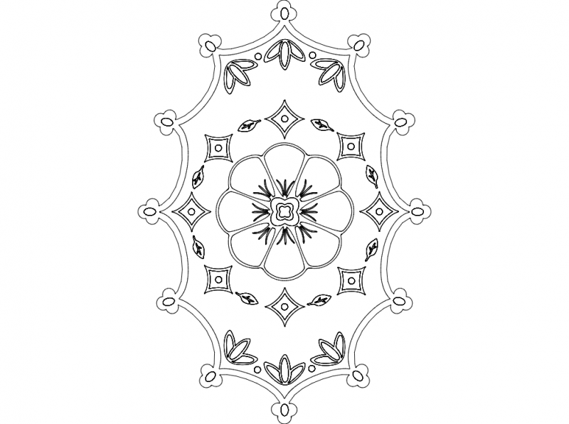 floral 2 Free Dxf for CNC