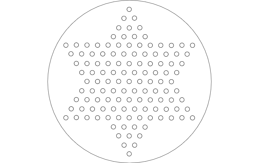 chinese checkers Free Dxf for CNC