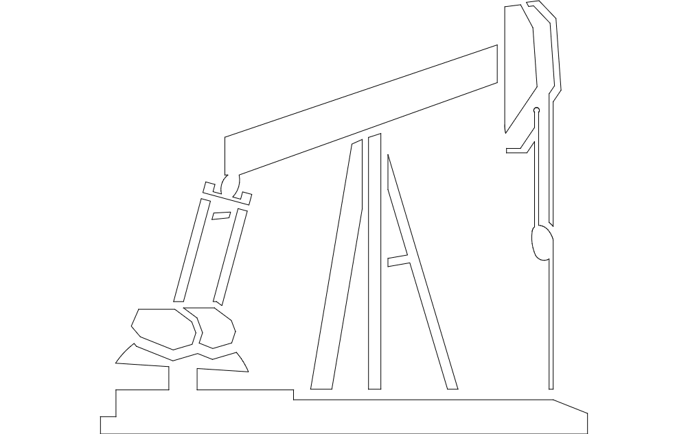 pump jack Free Dxf for CNC