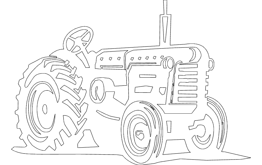 tractor Free Dxf for CNC