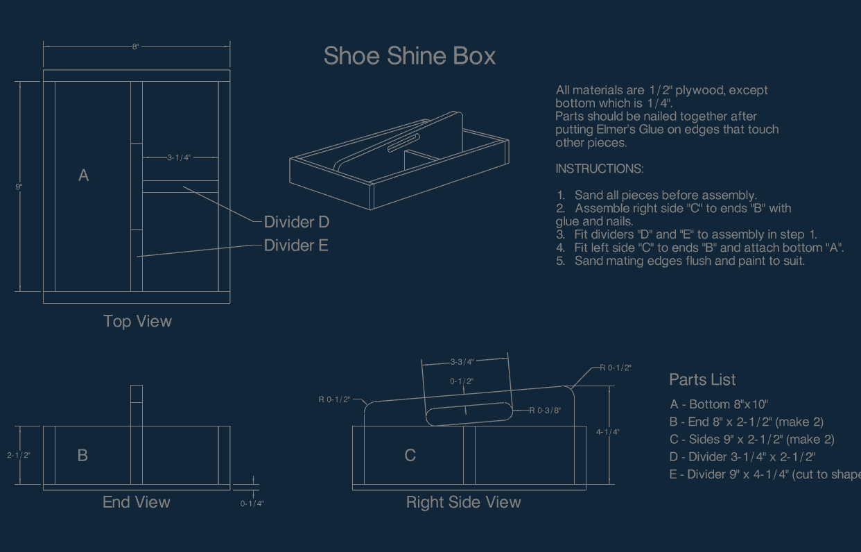 shoe shine Free Dxf for CNC