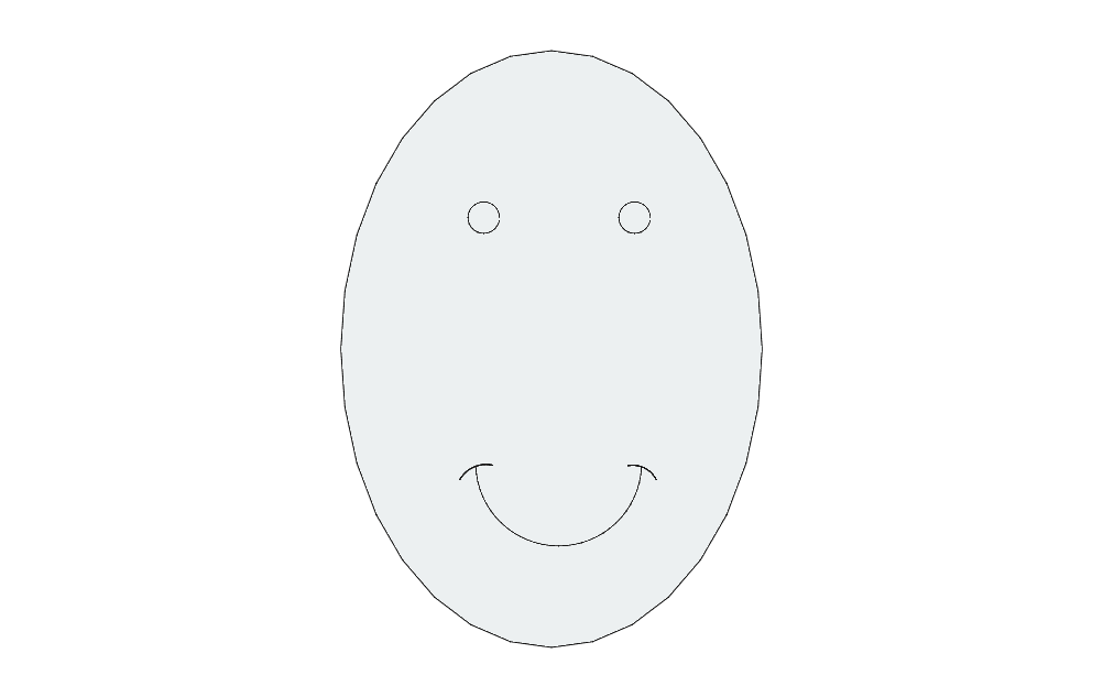 egg Free Dxf for CNC