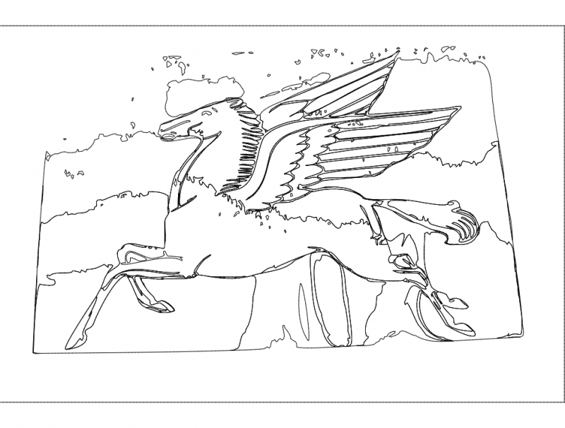flying horse Free Dxf for CNC