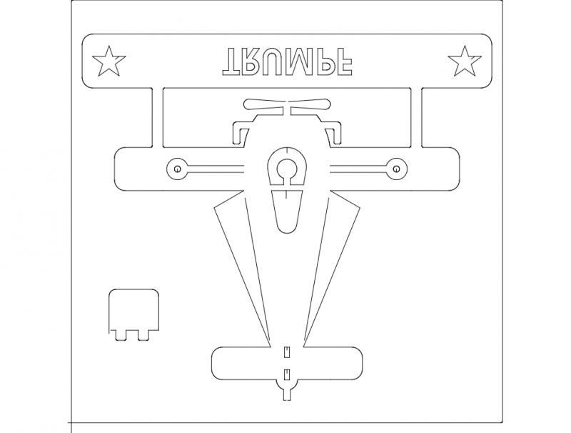 avioneta 3d Free Dxf for CNC