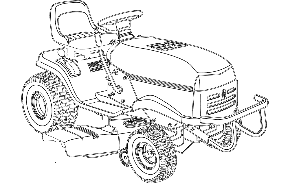 lawn mower tractor Free Dxf for CNC