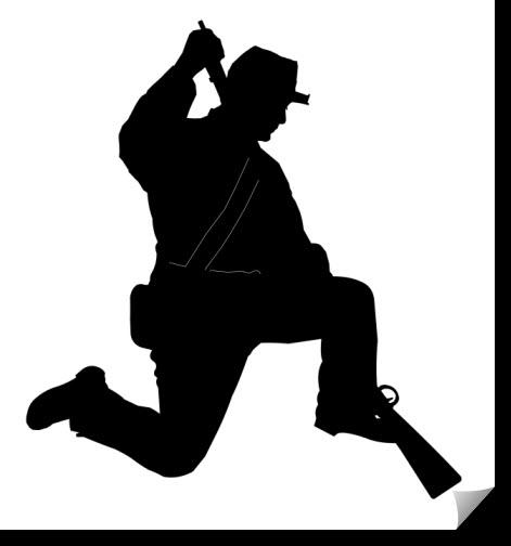 kneeling rifleman Free Dxf for CNC