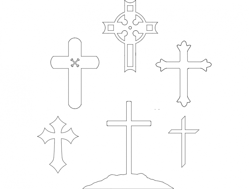 crosses Free Dxf for CNC
