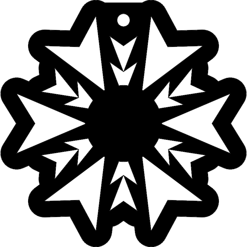 snowflake Free Dxf for CNC