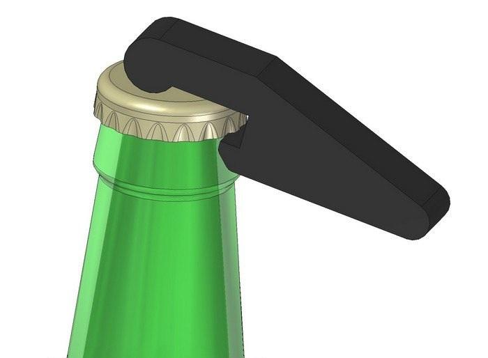 bottle opener Free Eia for CNC