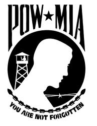 pow mia metal cut out Free Eia for CNC