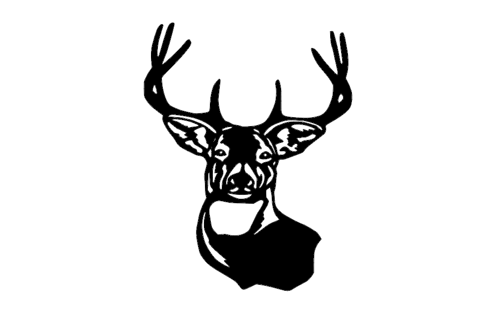deer 4 Free Dxf for CNC