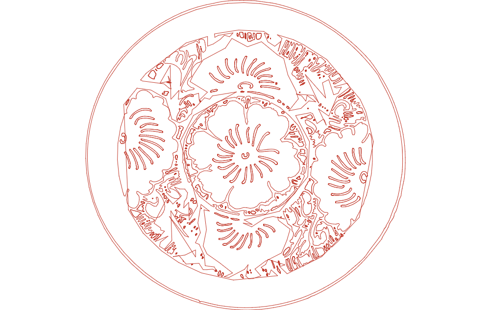 ornamental panel 228 Free Dxf for CNC