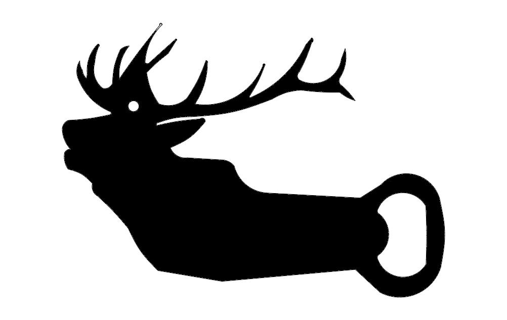 elk opener Free Dxf for CNC