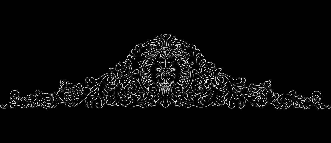 lion 2 Free Dxf for CNC