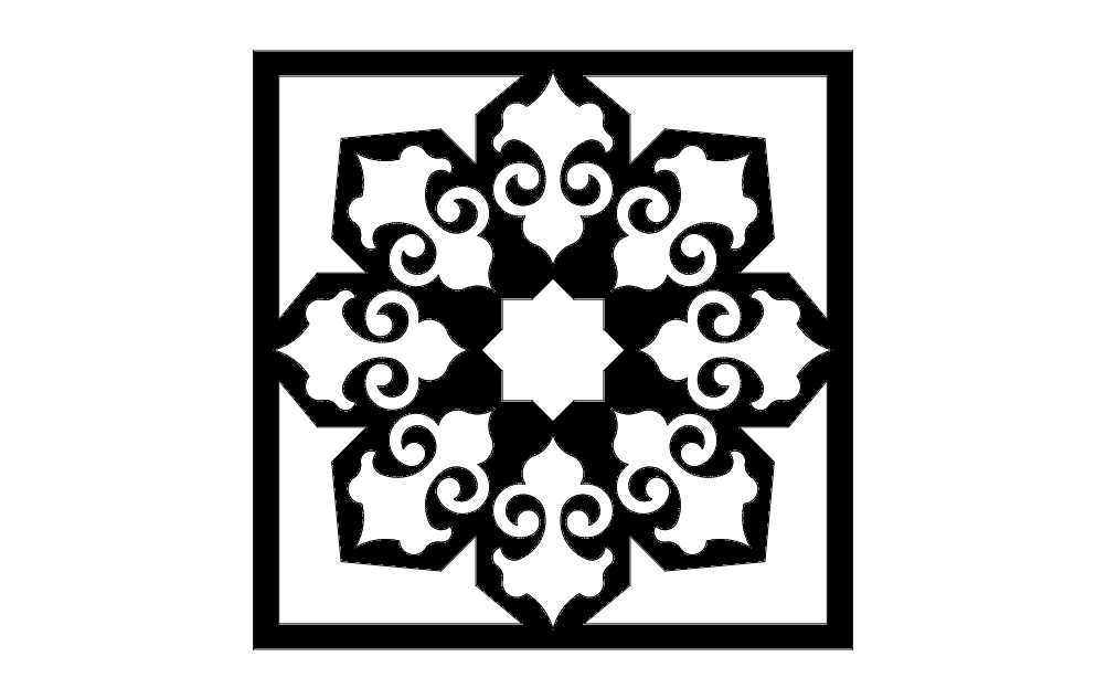 islamic pattern- 5 Free Dxf for CNC File Free Download | 3D