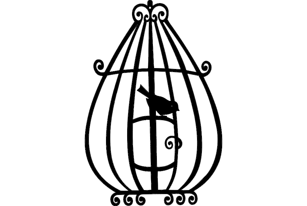 bird cage 3 Free Dxf for CNC