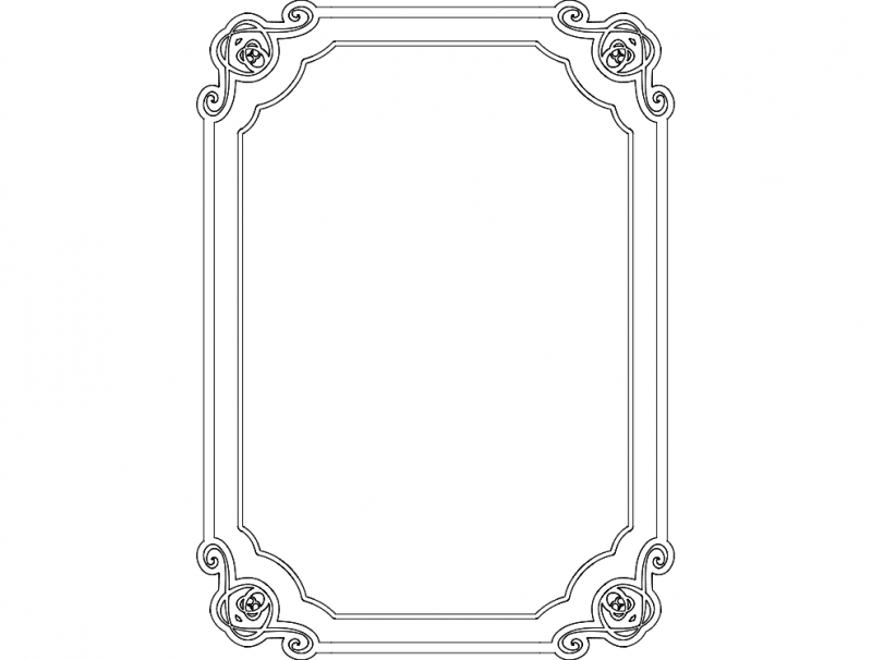 cool border frame Free Dxf for CNC