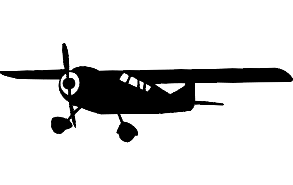 plane Free Dxf for CNC